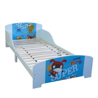 Gyermek ágykeret, 90x200, szuperkutyus, kék - SUPERPUPPY